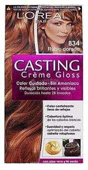 Casting Crème Gloss L'Oréal Paris Tinte rubio dorado nº 834  Caja 1 unidad
