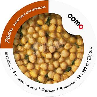 COMO NATURAL Garbanzos con espinacas 1 ración bandeja 300 g