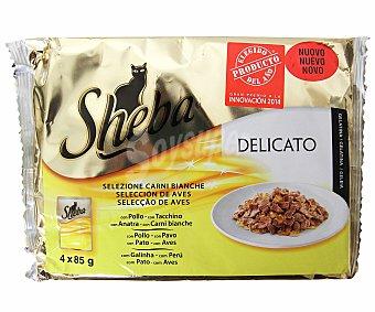 Sheba Alimento para gatos Bolsitas 4 x 85 gr