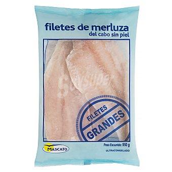 Mascato Merluza congelada filete grande sin piel del cabo Paquete 950 g peso neto escurrido