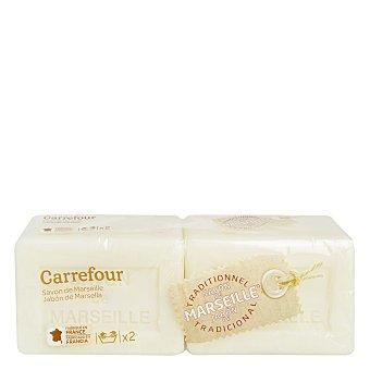 Carrefour Jabón de Marsella a mano para ropa 2 ud