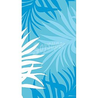 CASACTUAL  Toalla de playa en azul con dibujos de hojas del palmeras 1 Unidad