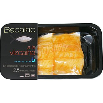 ISIDRO DE LA CAL Bacalao a la vizcaina Bandeja de 250 g