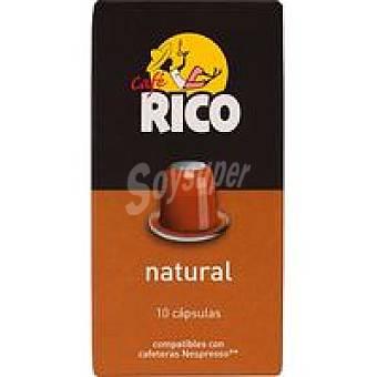 Rico Café natural en monodosis Paquete 50 g