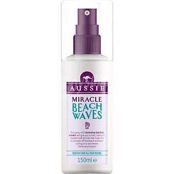 Aussie Agua de peinado Miracle Beach Waves con extracto de algas de mar Australiano  spray 150 ml