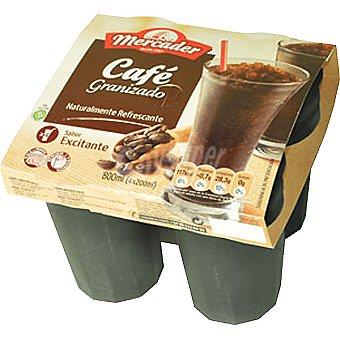 MERCADER Café granizado pack 4 unidades 200 g (800 ml)