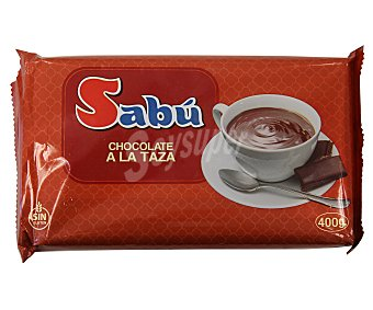 Sabu Chocolate a la taza familiar tableta 400 g