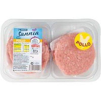 Eroski Sannia Hamburguesa de pollo 4 unidades (320 g)