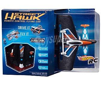 HOT WHEELS Coche y Avión a Radiocontrol, Modelo Street Hawk 1 Unidad