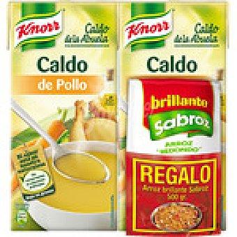 Knorr Caldo de la abuela de pollo con verduras  pack 2 envases 1 l