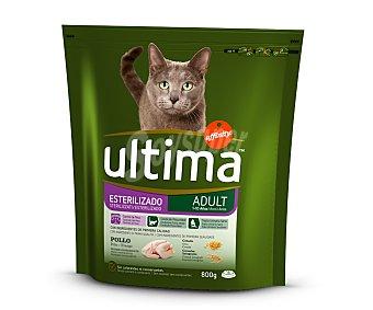 Ultima Affinity Comida seca para gatos esterilizados con pollo y cebada Paquete 800 g