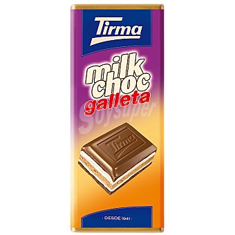 Tirma Milk Choc Chocolate con leche con galleta Tableta 150 g