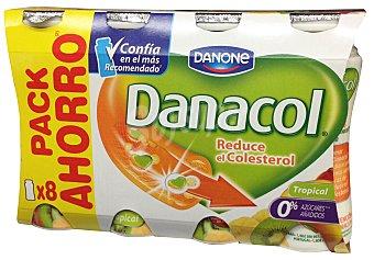 Danacol Danone Yogur líquido danacol tropical (redc.colesterol) 8 unidades de 100 g