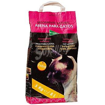 El Corte Inglés Arena para gatos perfume floral antibacterias Paquete 5 kg