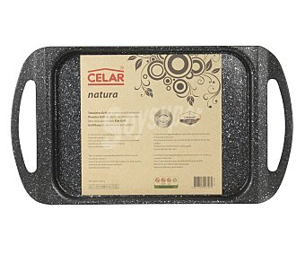 CELAR Plancha grill de 19x27 centímetros fabricada en aluminio y recubrimiento interior antiadherente Piedra, modelo Natura, apta para cocinas de inducción 1 unidad