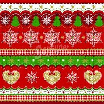 PAP STAR servilletas Christmas Border 3 capas 33 x33 cm  paquete 20 unidades