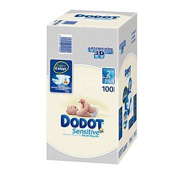 Dodot Pañal Plus Recién Nacido Talla 2 caja 100 ud