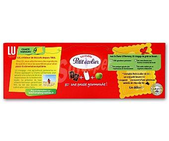 PETIT ECOLIER de LU Galleta con tableta de chocolate negro 150 gramos