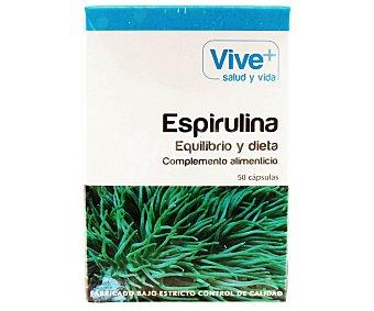 Viveplus Complemento alimenticio a base de espirulina, 50 cápsulas, 33 gramos 50u