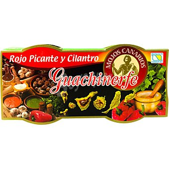 Guachinerfe Mojo rojo picante y cilantro Pack 2 frasco 125 g