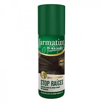 Farmatint Tinte spray instantaneo Castaño oscuro stop raices 1 ud 1 ud
