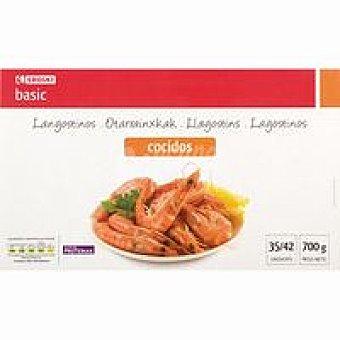 Eroski Basic Langostino cocido 35/42 Caja 700 g
