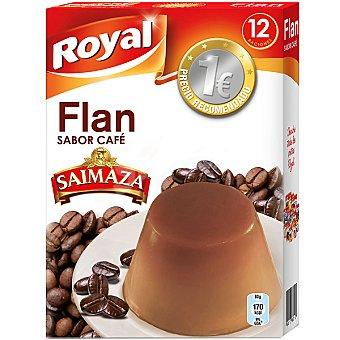 Royal Flan para preparar sabor café Saimaza 12 raciones Paquete 80 g