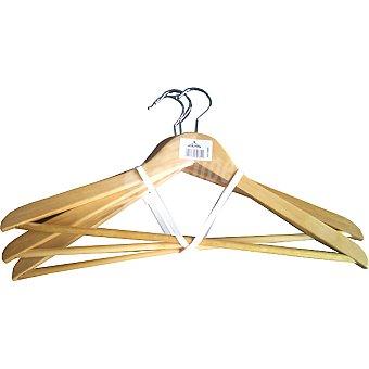 Cano Percha de madera color natural o blanca plana 45 cm se surten según existencias Paquete 3 unidades