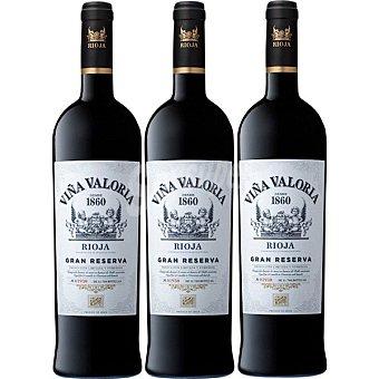 VIÑA VALORIA Vino tinto gran reseva 82+87+2001 doca Rioja Estuche 3 botellas 75 cl