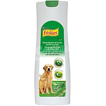 Friskies Purina Champú repelente de insectos para perros y gatos con ingredientes naturales Nature Protect Envase de 200 ml