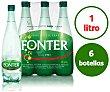 Agua mineral con gas Pack 6 u x 1 l Fonter