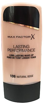 Max Factor Maquillaje lasting performance Nº 106 color beige natural 1 unidad