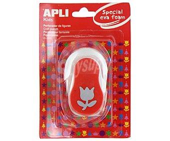 APLI Perforadorada de goma eva de color rojo y con forma de tulipán 1 unidad