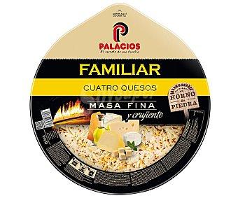 Palacios Pizza masa fina cuatro quesos con aceite de oliva de cebolla Envase 560 g