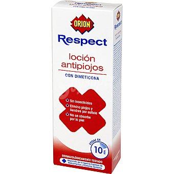 Orion Loción anti piojos con dimeticona y sin insecticidas eliminandolos por afixia eficaz en 10 minutos Frasco 100 ml