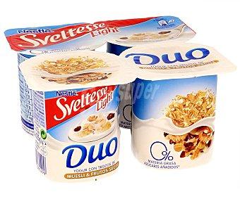 Sveltesse Nestlé Yogur 0% con muesli Pack 4x125 g