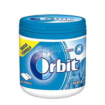 Orbit Chicles sabor a menta Bote 60 grageas