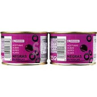 Eroski Aceitunas negra en rodajas Pack 2x50 g