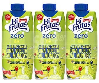 Bifrutas Pascual Ibiza Zero Materia Grasa zumo de fruta con leche y vitaminas sin gluten Pack 3 briks 330 ml