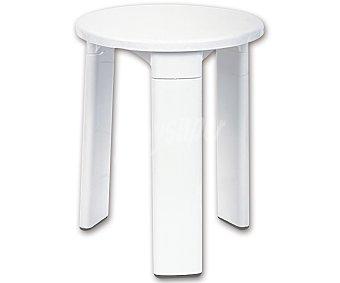 Toyma Taburete color blanco para baño, 40x32,5 centímetros 1 Unidad