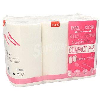 DIA Papel de cocina compacto blanco Paquete 6 rollos