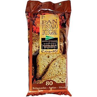 El Corte Inglés pan tostado integral 80 rebanadas Paquete 720 g