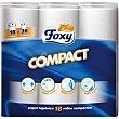 Papel higienico compacto 36 rollos Foxy
