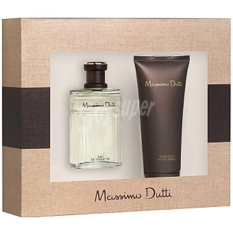 Massimo Dutti eau de toilette masculina + after shave emulsión tubo 100 ml Frasco 50 ml