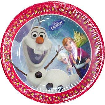 NV CORPORACION Plato decorado Frozen Paquete 8 unidades