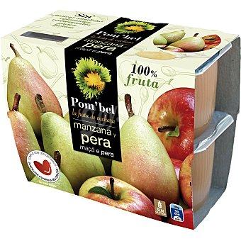 Pom'Bel Compota de manzana y pera 100% fruta Pack 4 tarrina 100 g