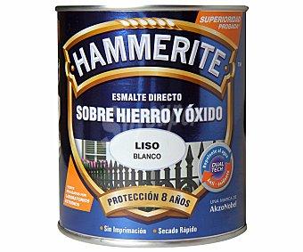 HAMMERITE Esmalte metálico para uso exterior antióxido y de color blanco brillante 0,75 litros