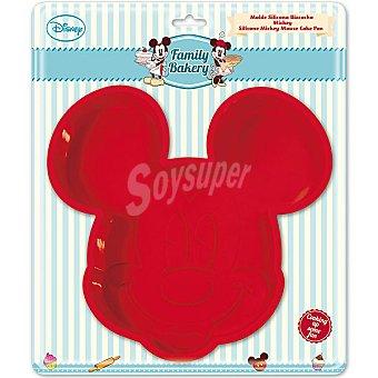 DISNEY Family Bakery Molde de silicona grande Bizcocho Mickey en color rojo