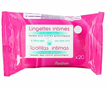 Auchan Toallitas para la higiene íntima 20 unidades