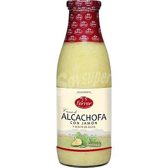 FERRER Crema de alcachofas con jamón Botella 720 ml